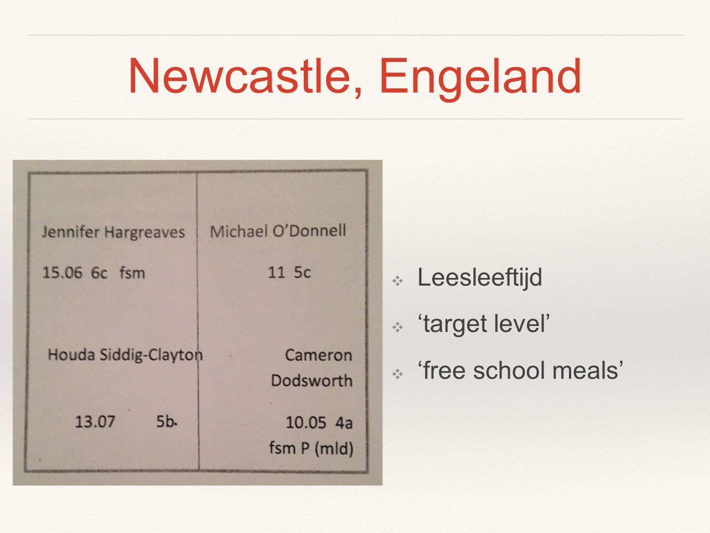 Newcastle, Engeland Leesleeftijd 'target level' 'free school meals'