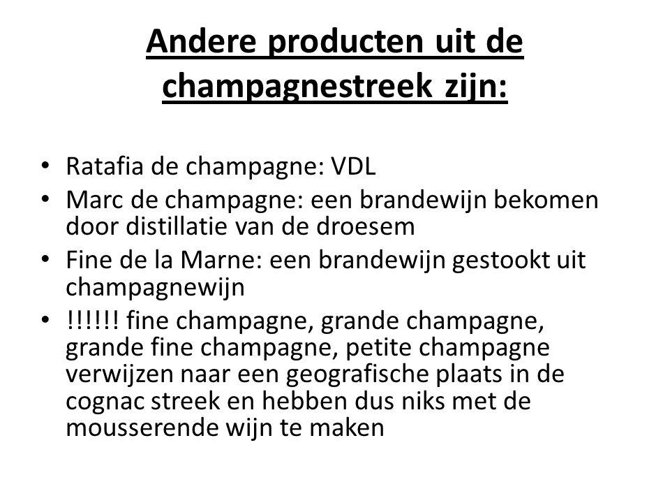 Andere producten uit de champagnestreek zijn:
