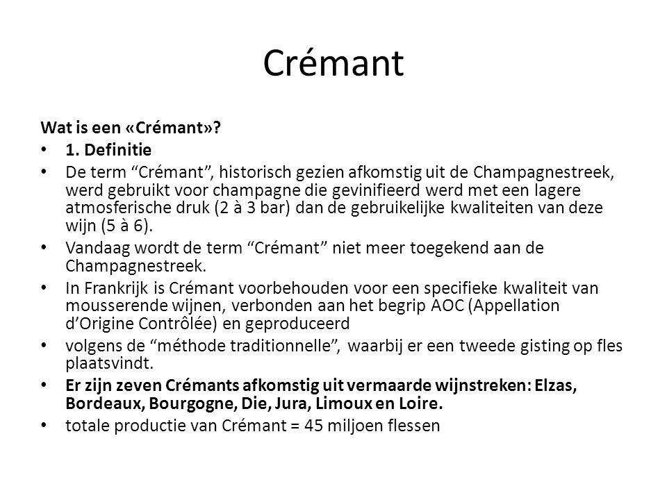 Crémant Wat is een «Crémant» 1. Definitie