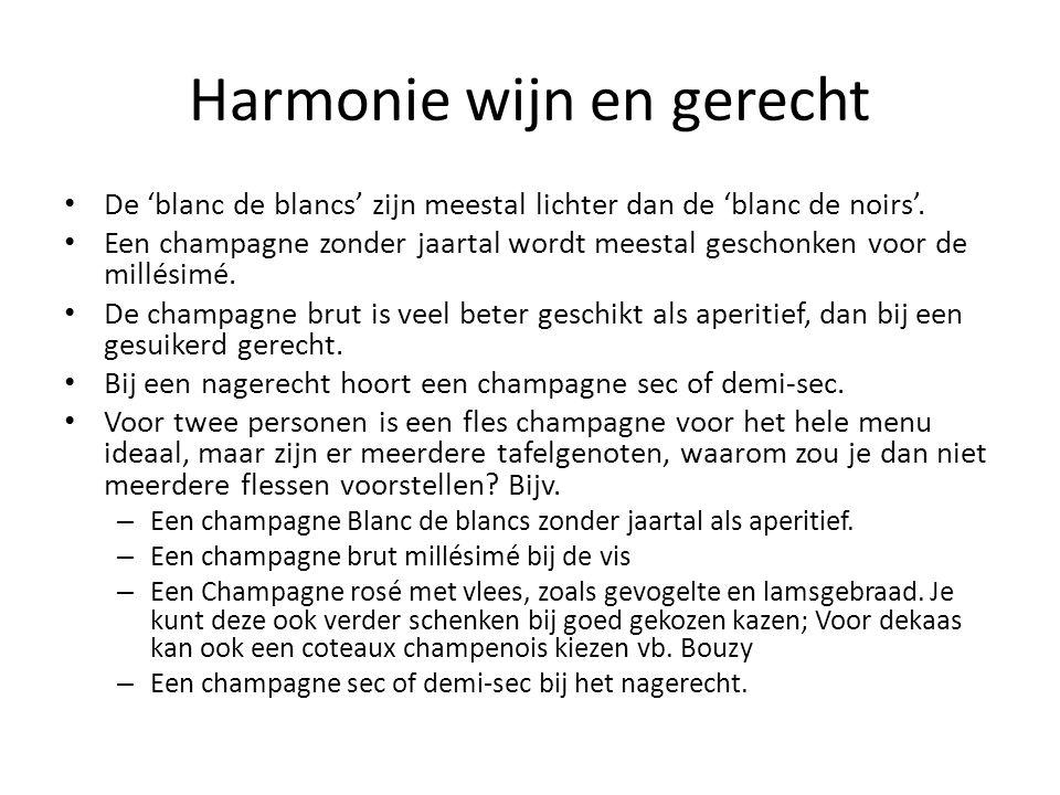 Harmonie wijn en gerecht