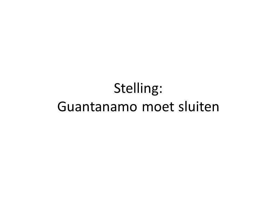 Stelling: Guantanamo moet sluiten