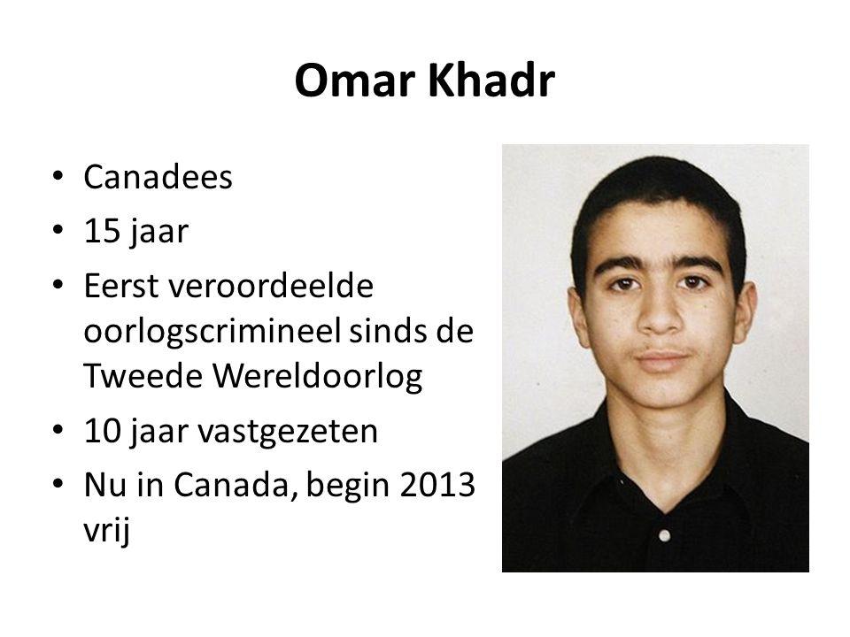 Omar Khadr Canadees 15 jaar