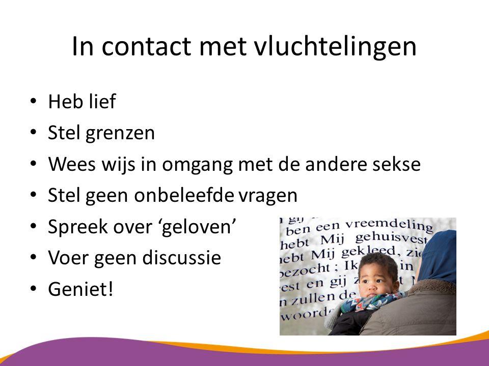 In contact met vluchtelingen