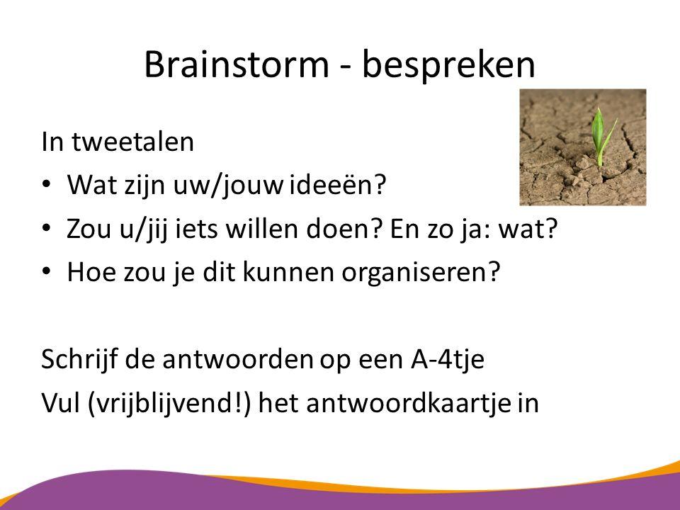 Brainstorm - bespreken