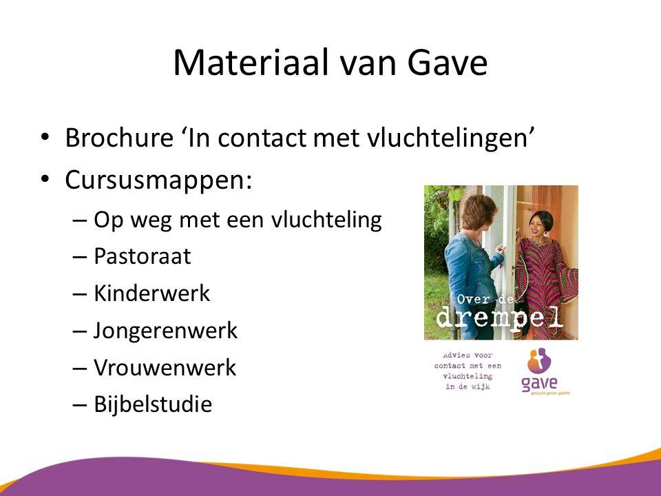 Materiaal van Gave Brochure 'In contact met vluchtelingen'