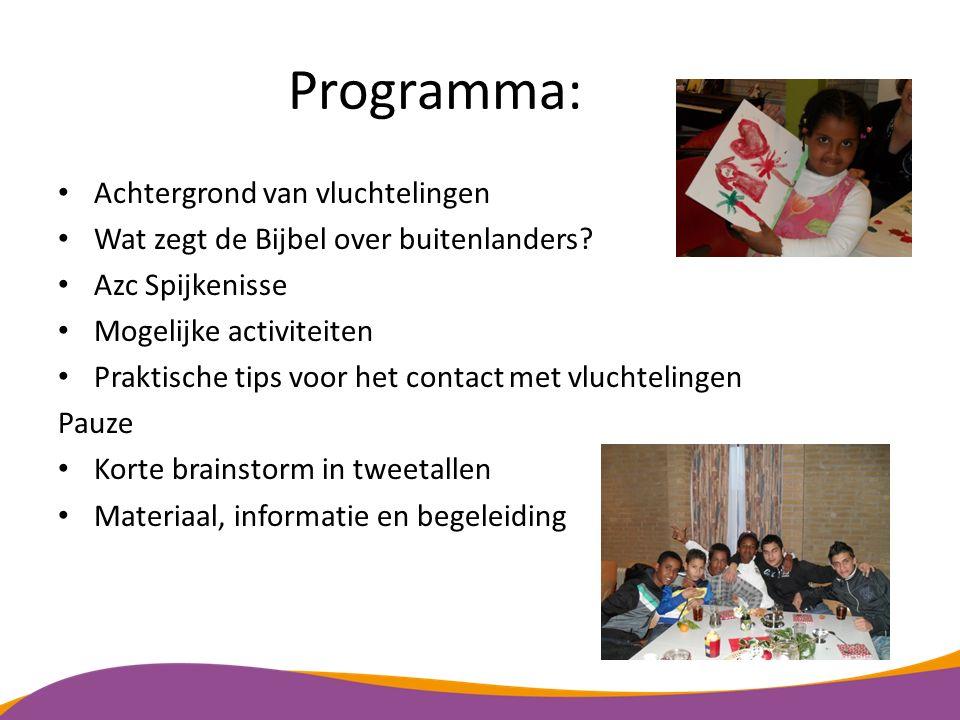 Programma: Achtergrond van vluchtelingen