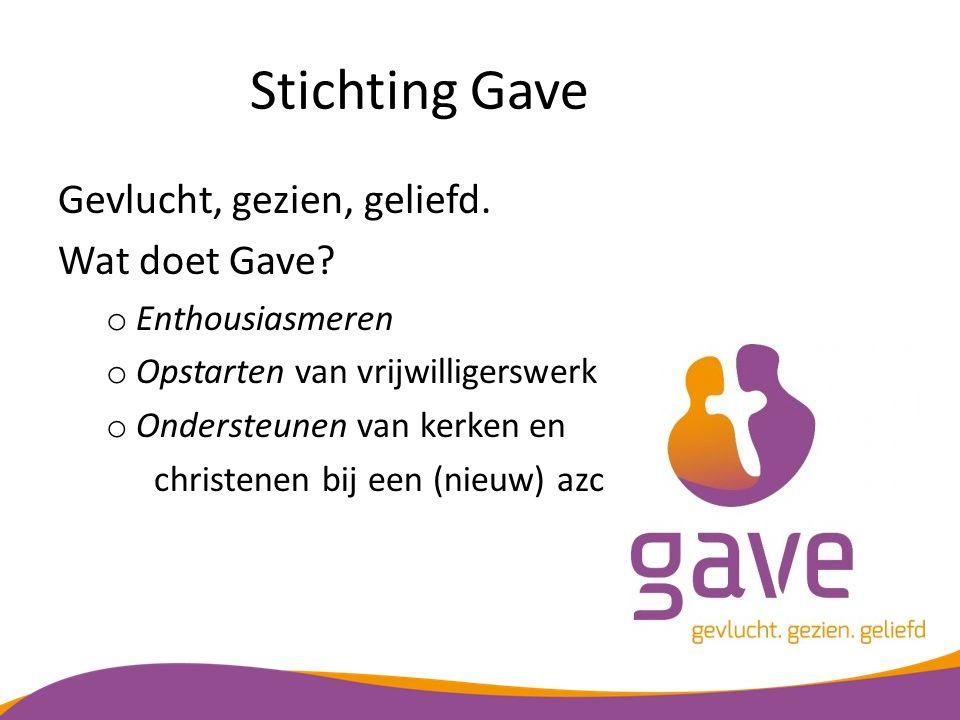 Stichting Gave Gevlucht, gezien, geliefd. Wat doet Gave
