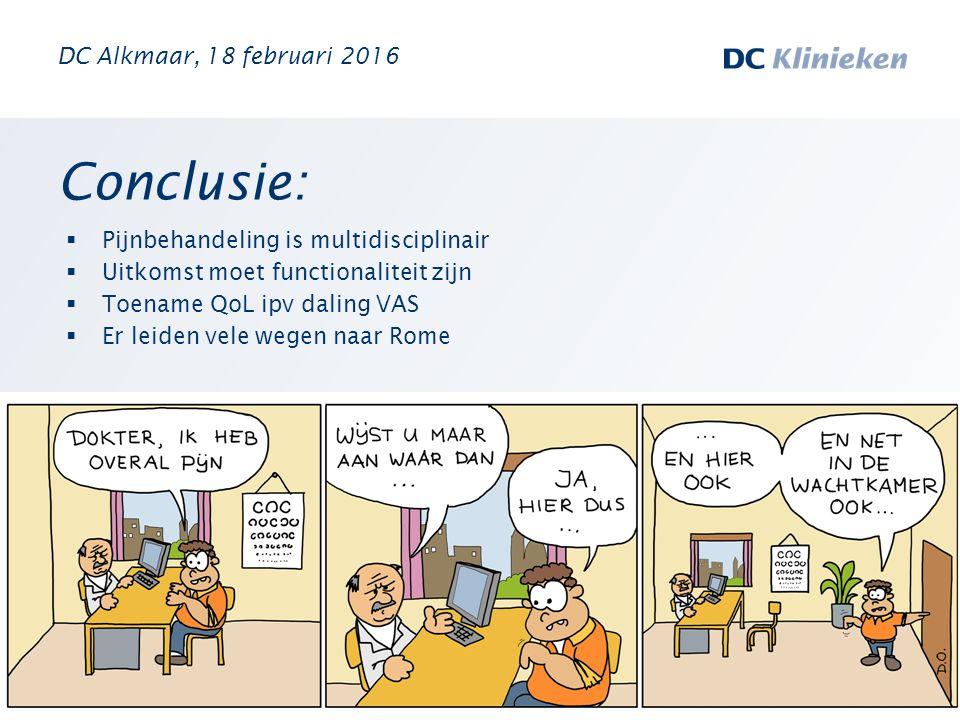 Conclusie: DC Alkmaar, 18 februari 2016
