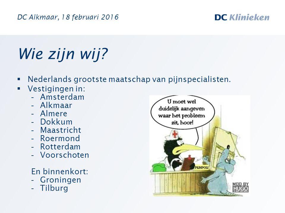 Wie zijn wij Nederlands grootste maatschap van pijnspecialisten.