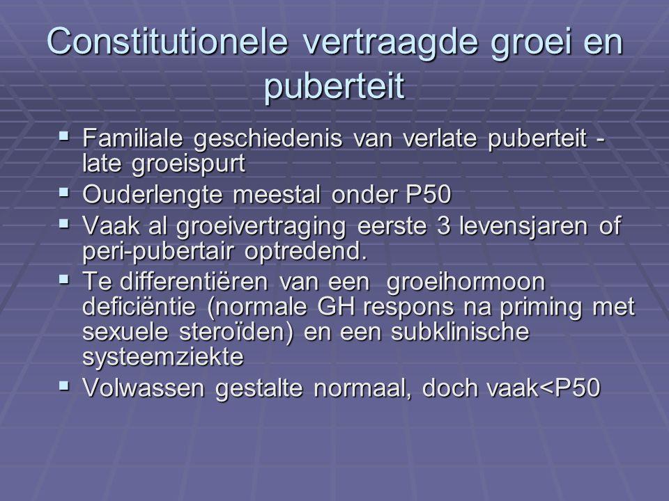 Constitutionele vertraagde groei en puberteit