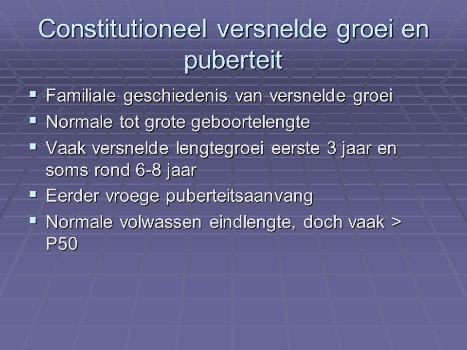 Constitutioneel versnelde groei en puberteit