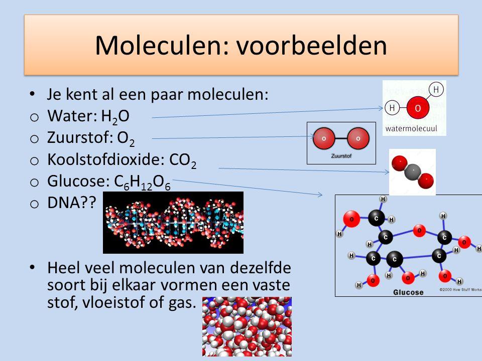 Moleculen: voorbeelden
