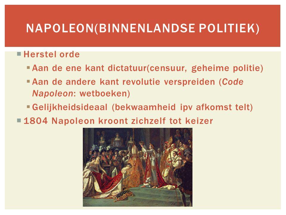Napoleon(binnenlandse politiek)