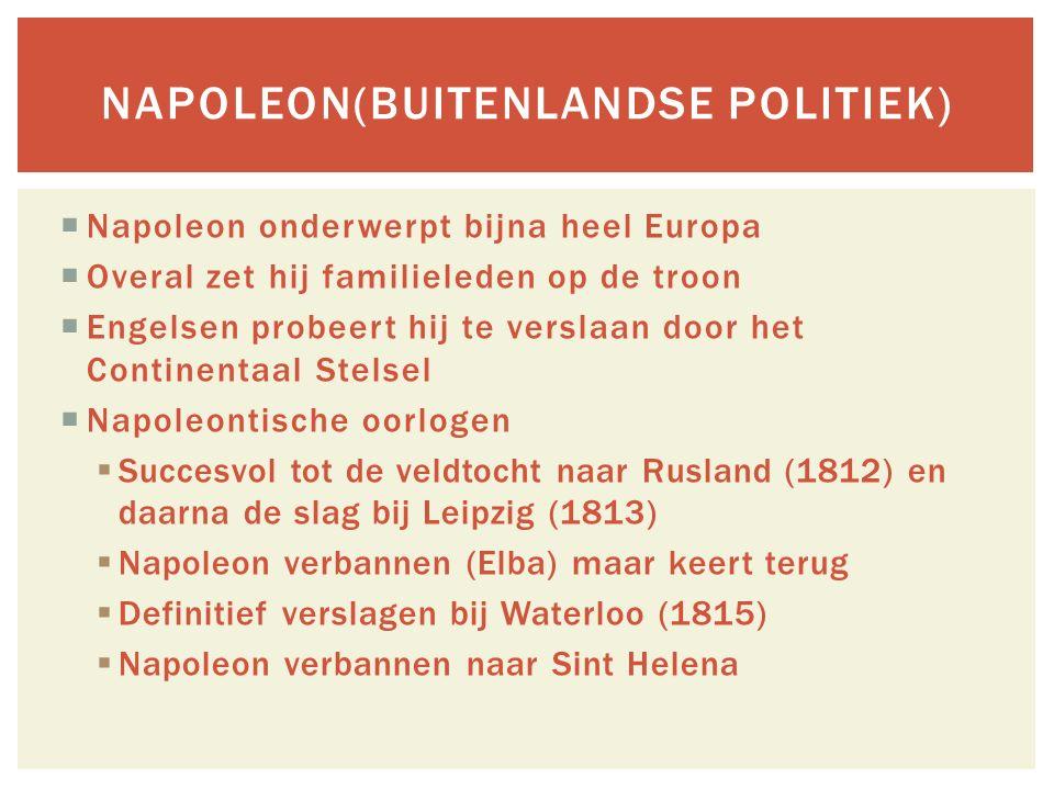 Napoleon(buitenlandse politiek)