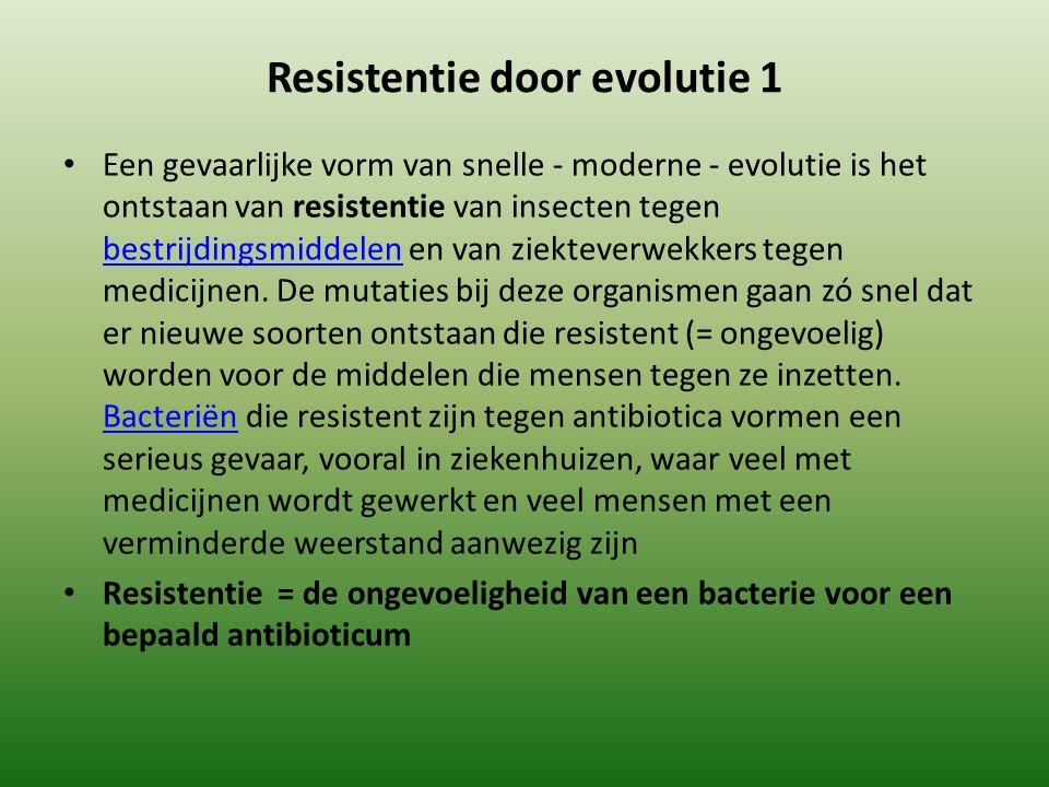 Resistentie door evolutie 1