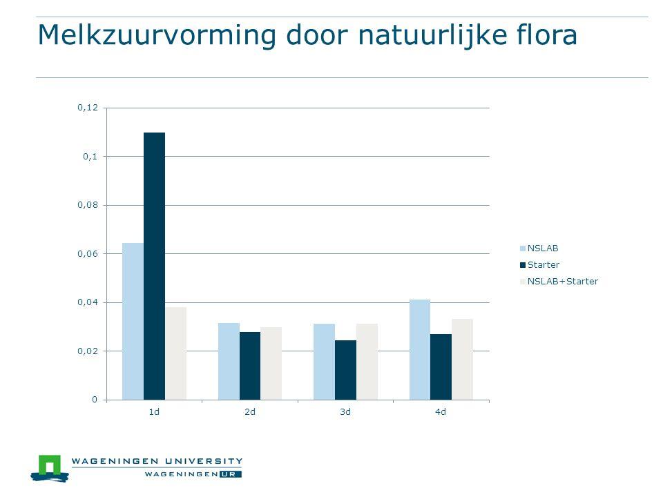 Melkzuurvorming door natuurlijke flora
