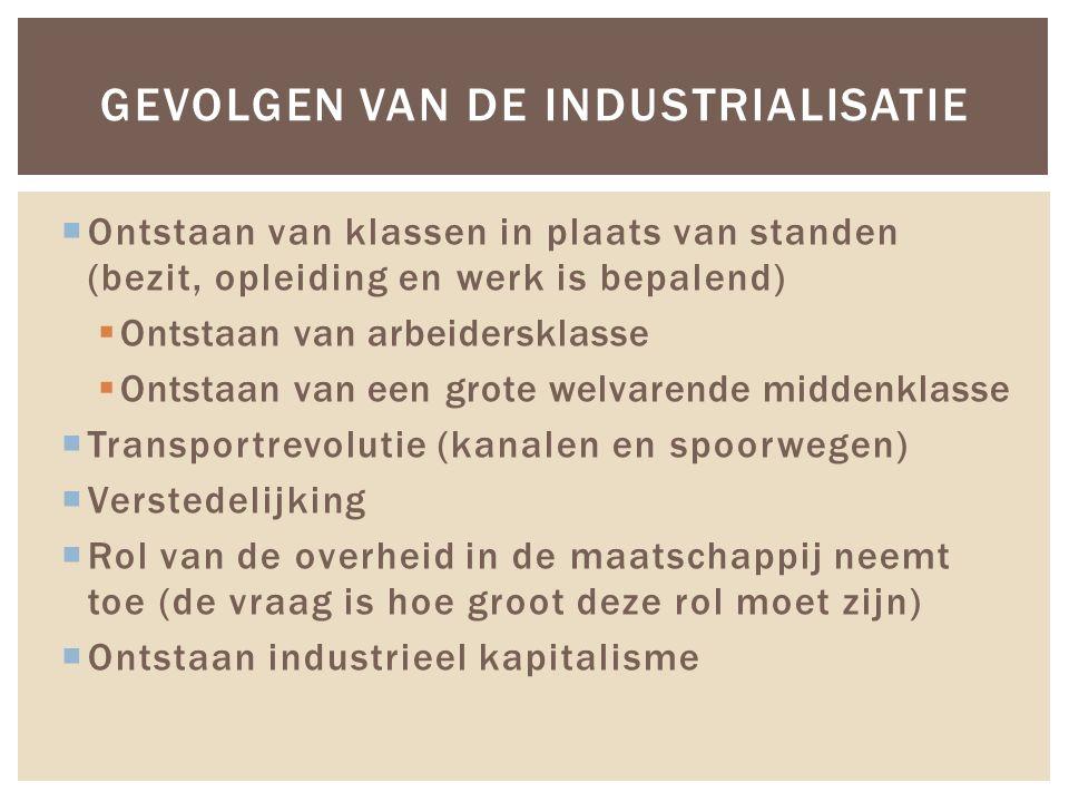 Gevolgen van de industrialisatie