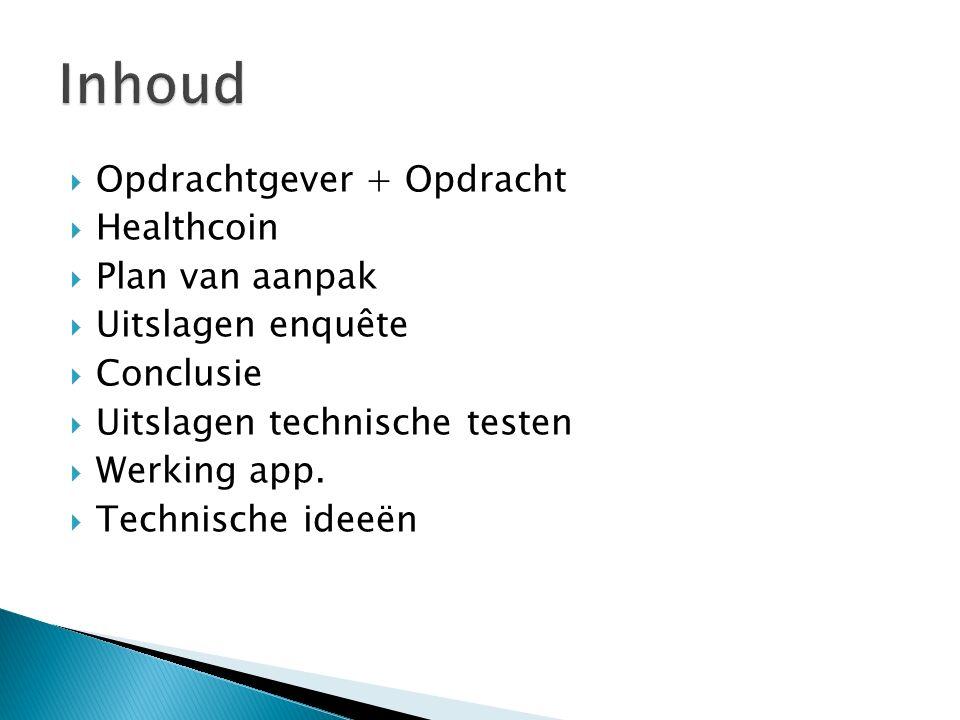 Inhoud Opdrachtgever + Opdracht Healthcoin Plan van aanpak