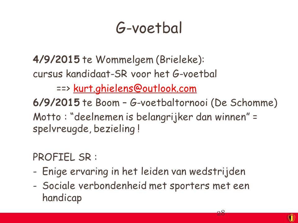 G-voetbal 4/9/2015 te Wommelgem (Brieleke):