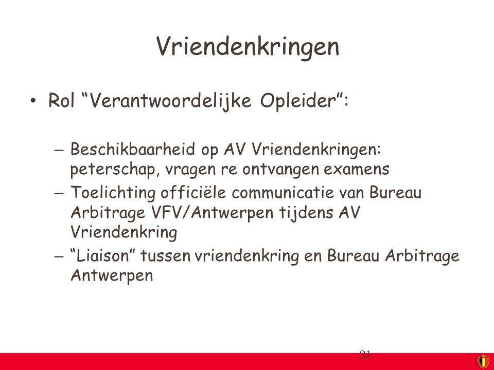 Vriendenkringen Rol Verantwoordelijke Opleider :