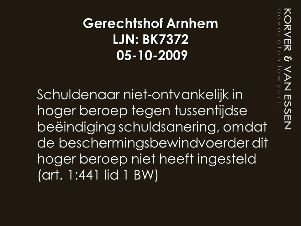 Gerechtshof Arnhem LJN: BK7372 05-10-2009