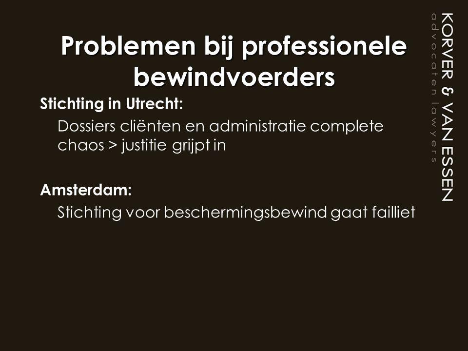 Problemen bij professionele bewindvoerders