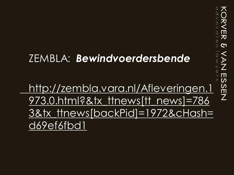 ZEMBLA: Bewindvoerdersbende http://zembla. vara. nl/Afleveringen. 1973