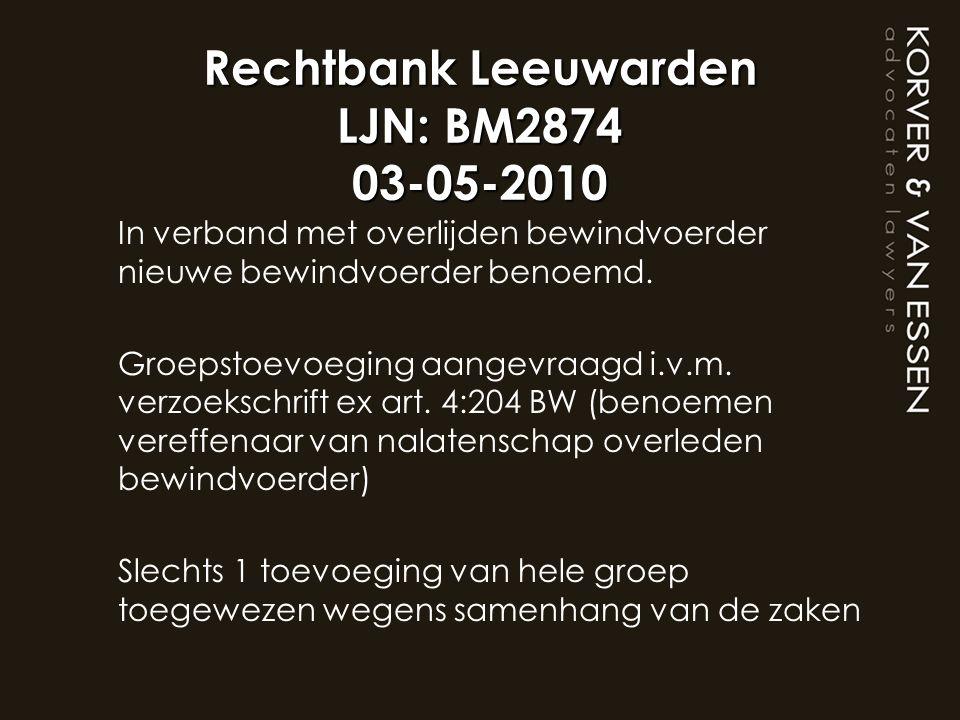 Rechtbank Leeuwarden LJN: BM2874 03-05-2010