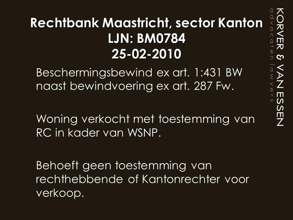 Rechtbank Maastricht, sector Kanton LJN: BM0784 25-02-2010