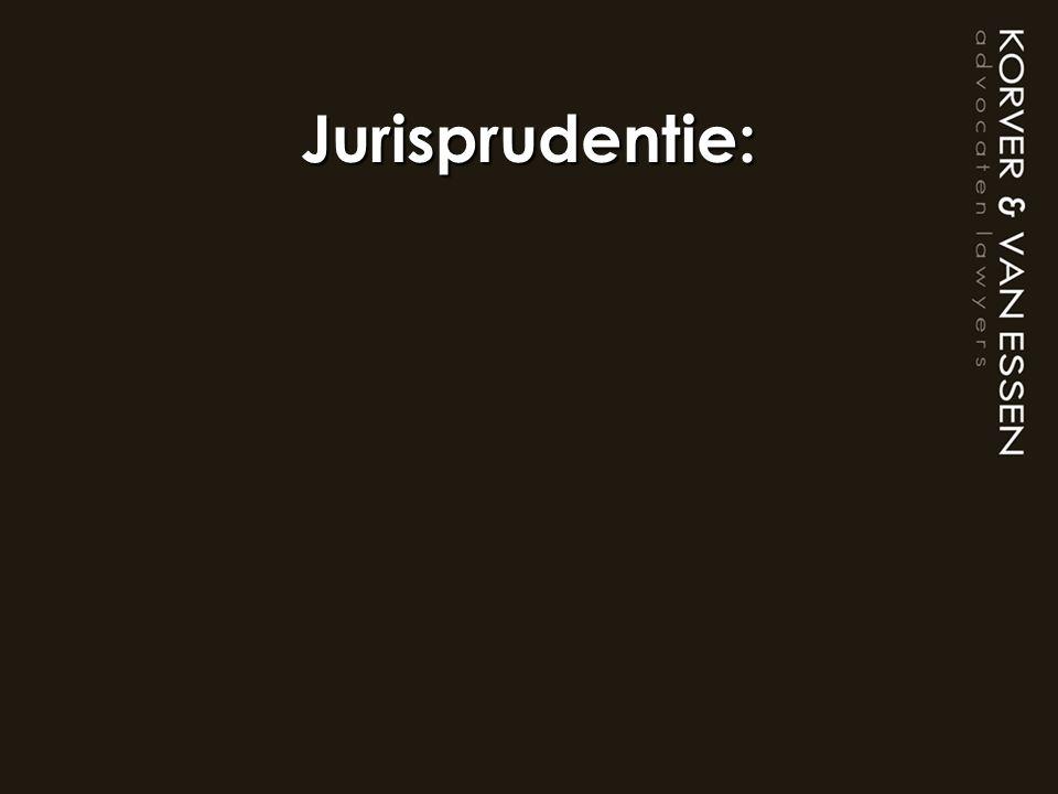 Jurisprudentie: