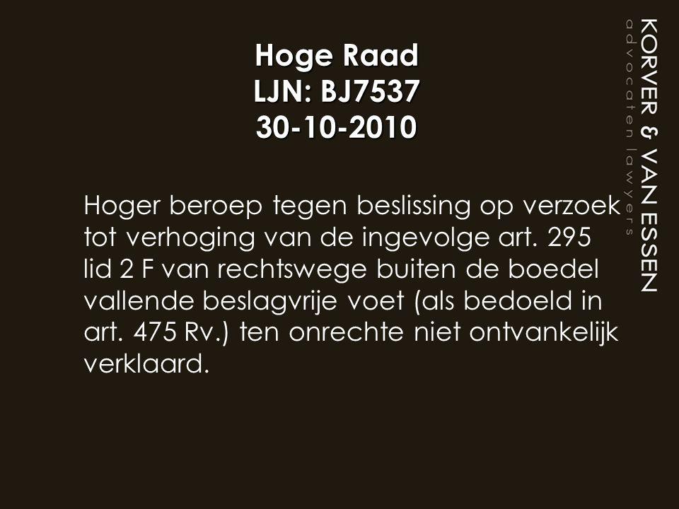 Hoge Raad LJN: BJ7537 30-10-2010
