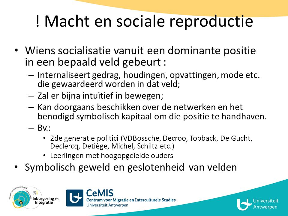 ! Macht en sociale reproductie