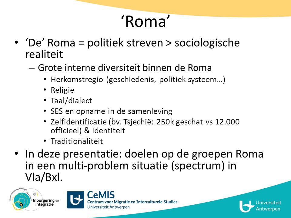 'Roma' 'De' Roma = politiek streven > sociologische realiteit