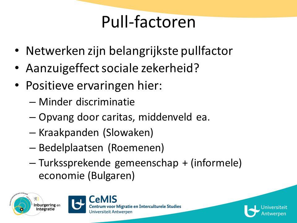 Pull-factoren Netwerken zijn belangrijkste pullfactor