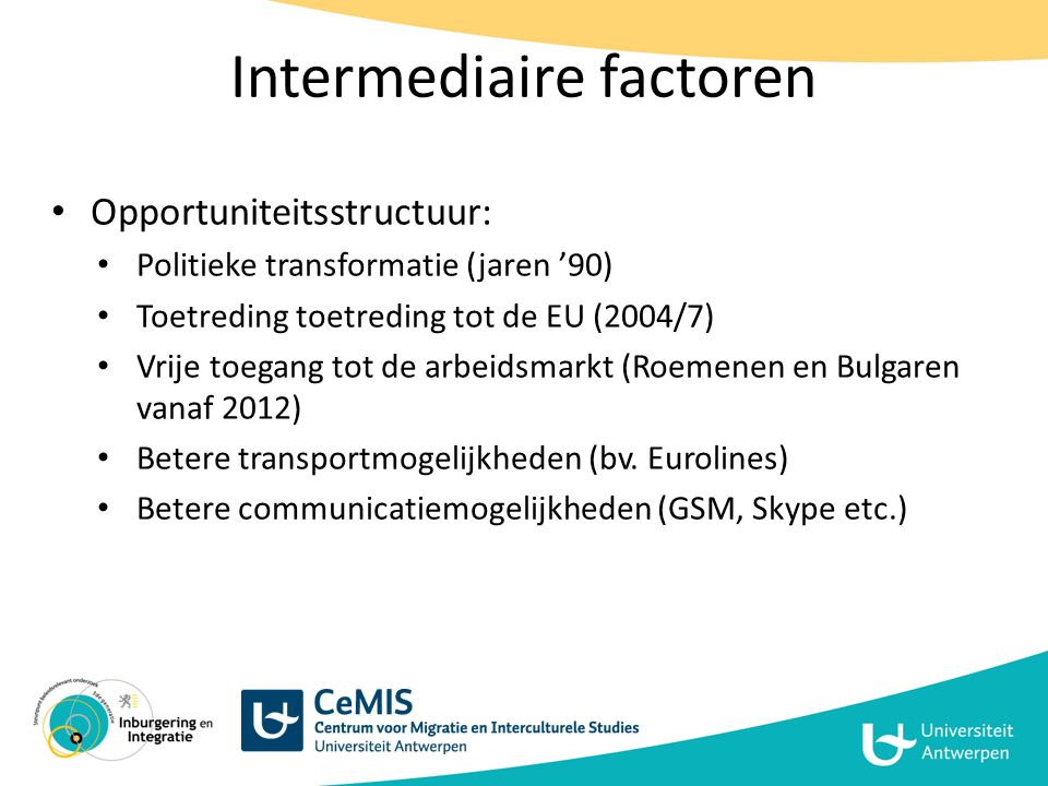 Intermediaire factoren