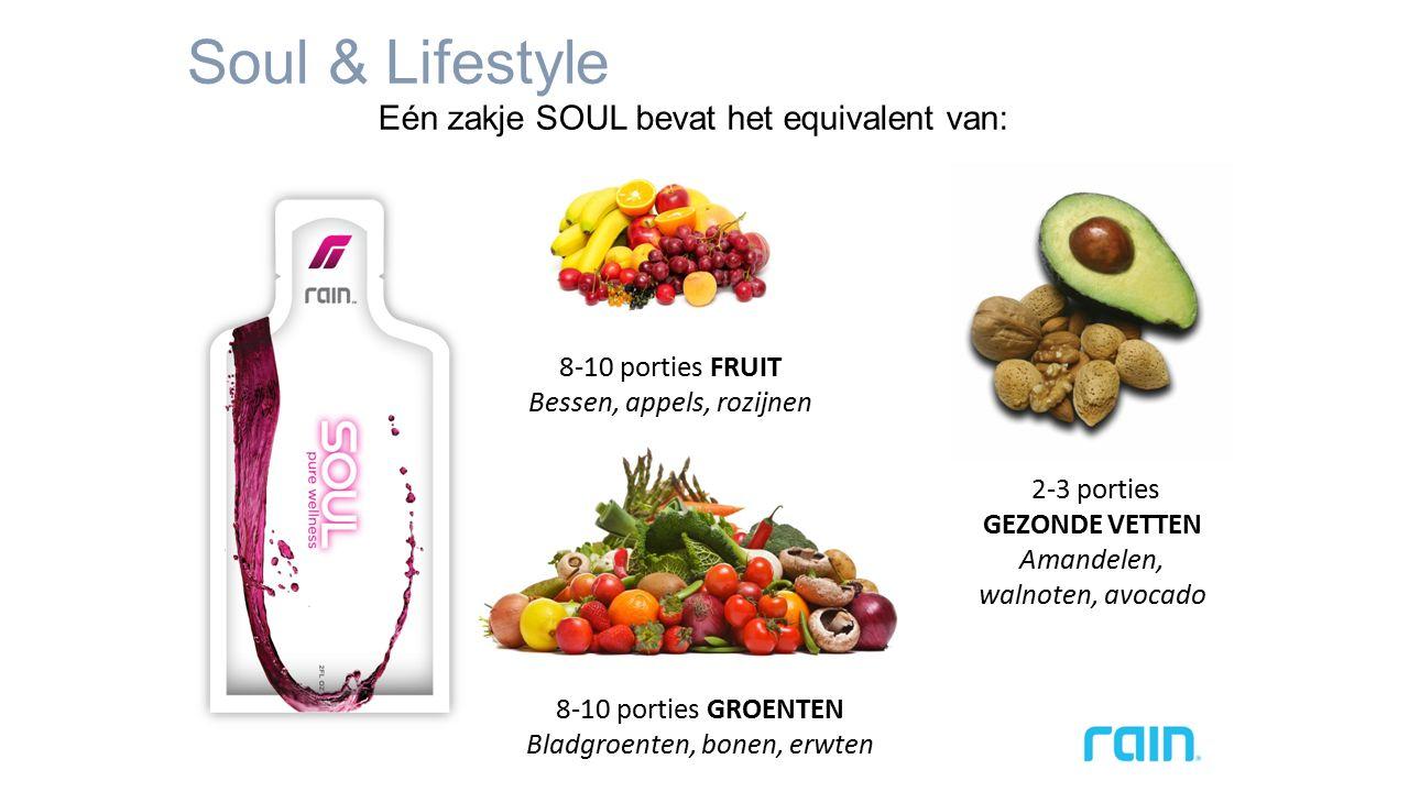 Soul & Lifestyle Eén zakje SOUL bevat het equivalent van: