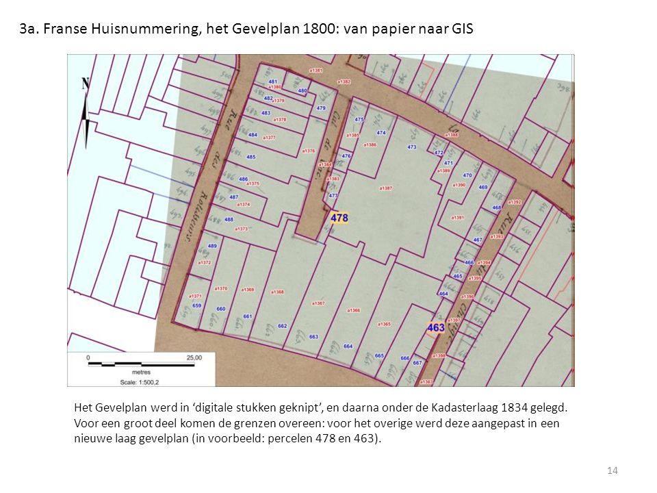 3a. Franse Huisnummering, het Gevelplan 1800: van papier naar GIS