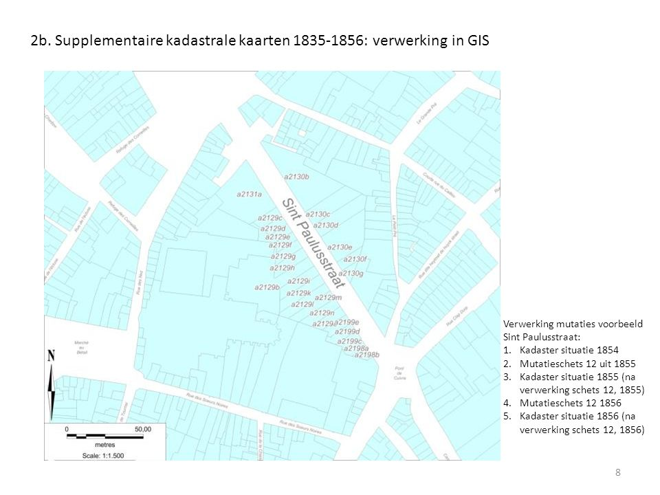 2b. Supplementaire kadastrale kaarten 1835-1856: verwerking in GIS