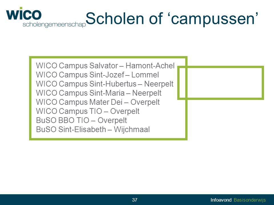 Scholen of 'campussen'