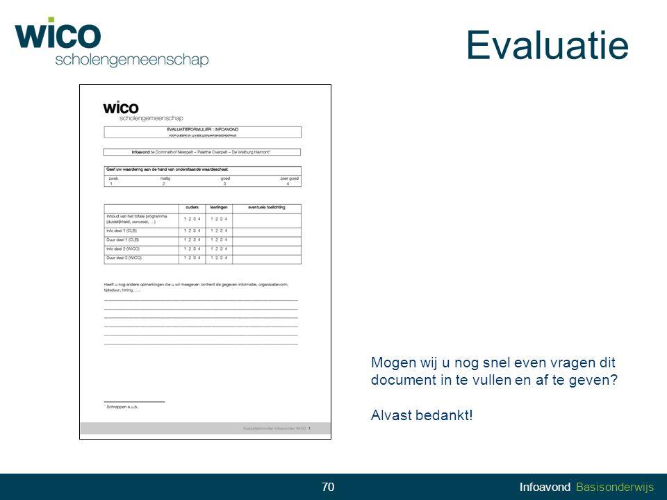 Evaluatie Mogen wij u nog snel even vragen dit document in te vullen en af te geven Alvast bedankt!