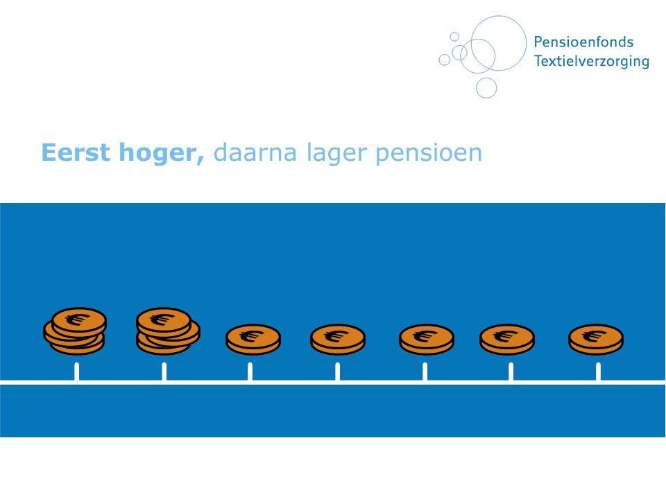 Eerst hoger, daarna lager pensioen