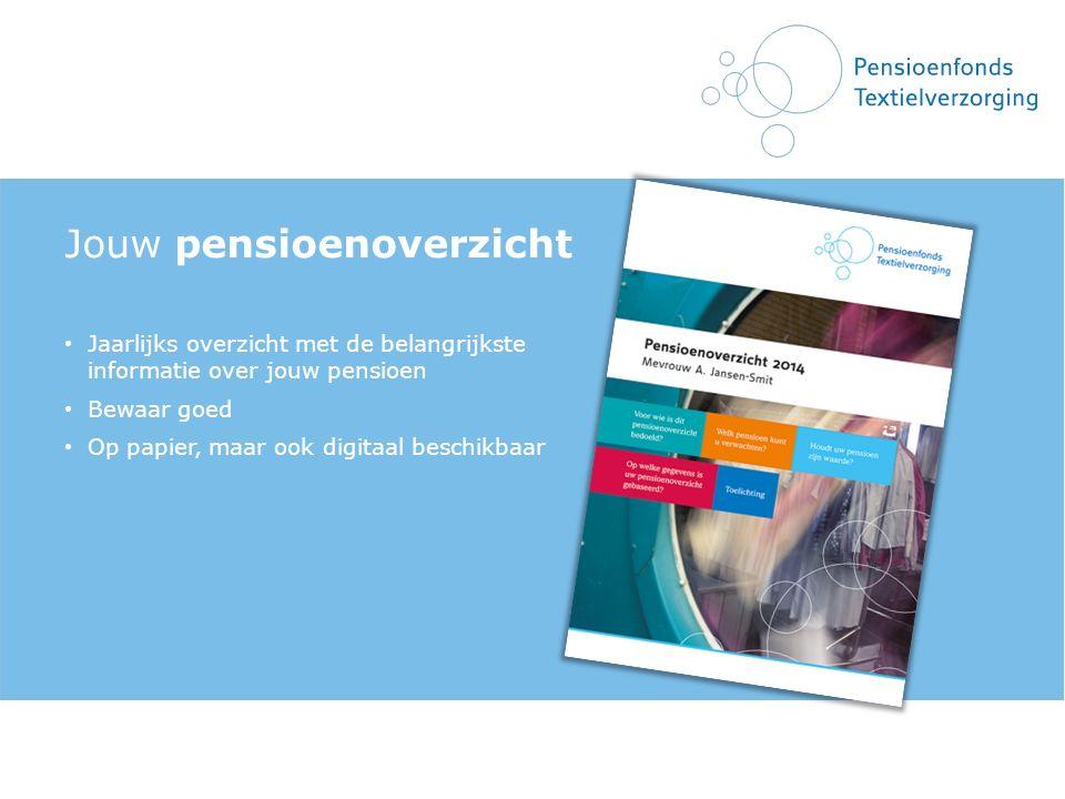 Jouw pensioenoverzicht