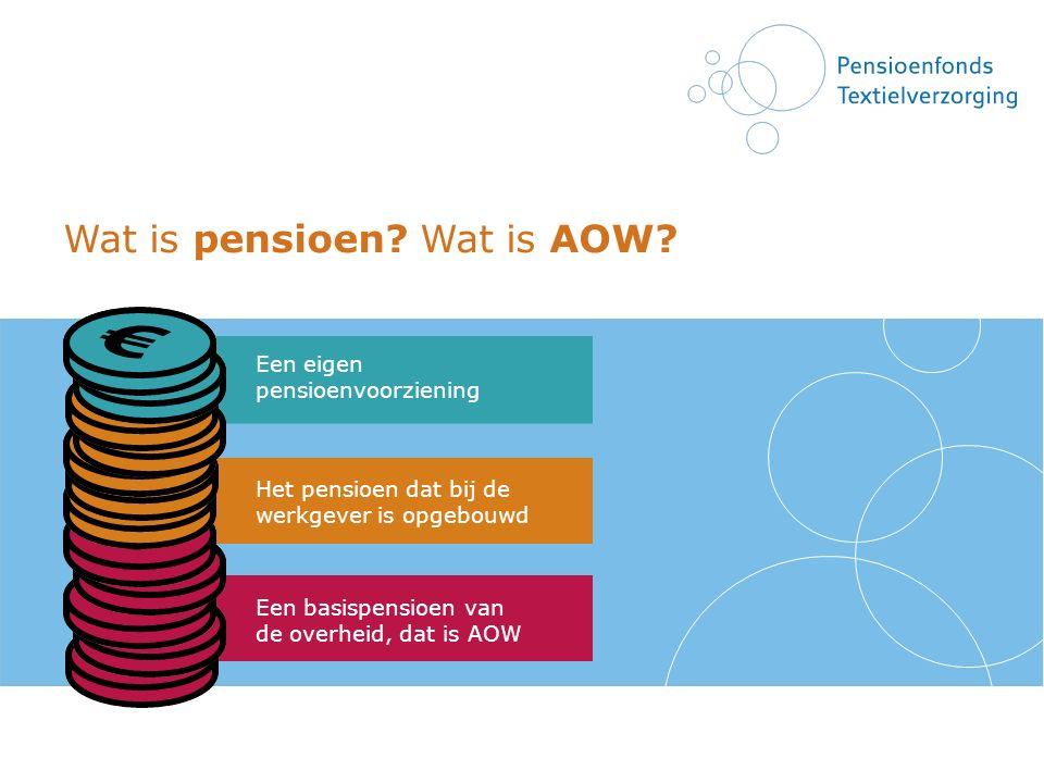 Wat is pensioen Wat is AOW