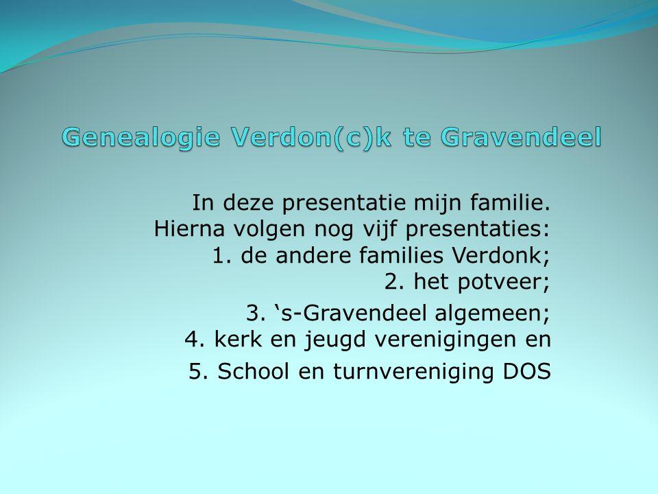 Genealogie Verdon(c)k te Gravendeel