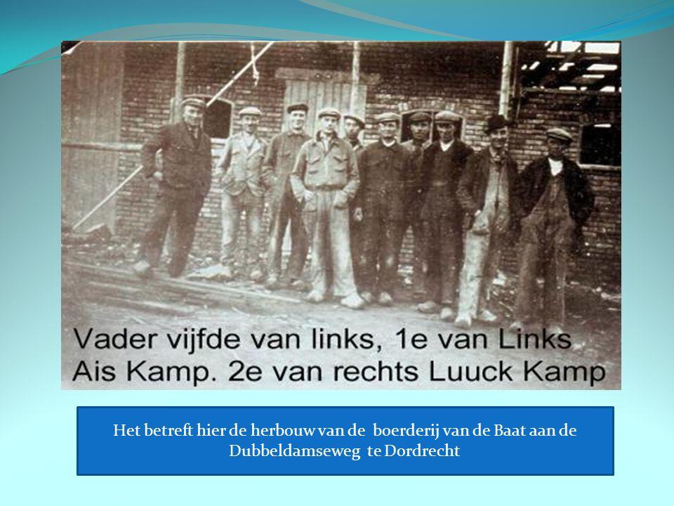 Het betreft hier de herbouw van de boerderij van de Baat aan de Dubbeldamseweg te Dordrecht