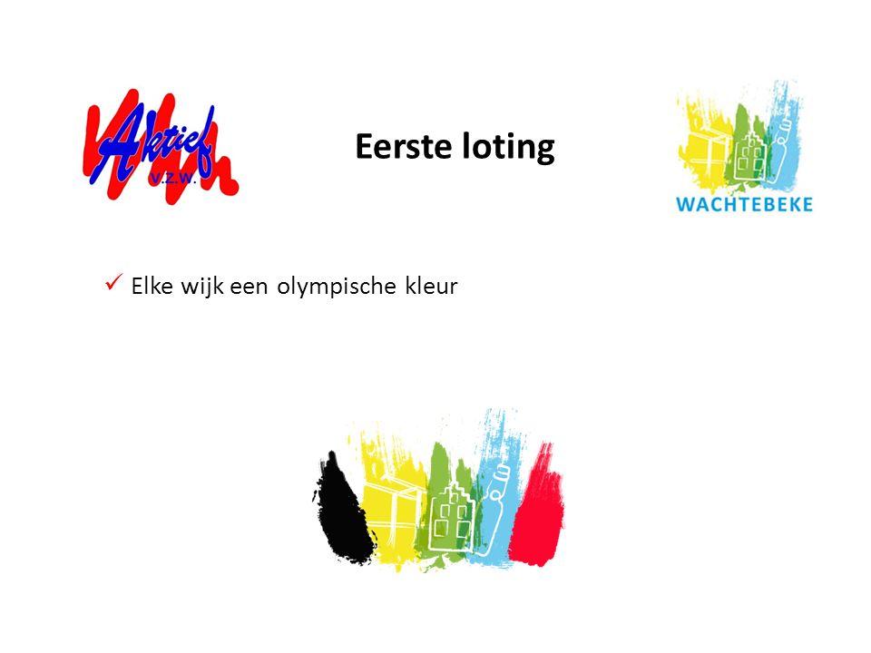 Eerste loting Elke wijk een olympische kleur