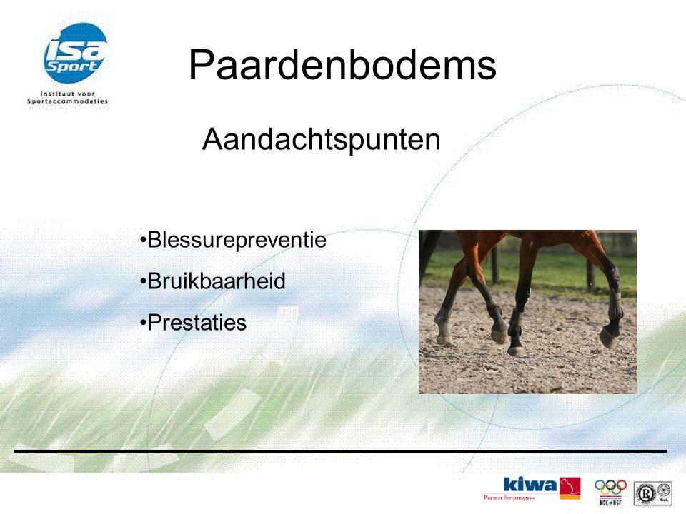 Paardenbodems Aandachtspunten Blessurepreventie Bruikbaarheid
