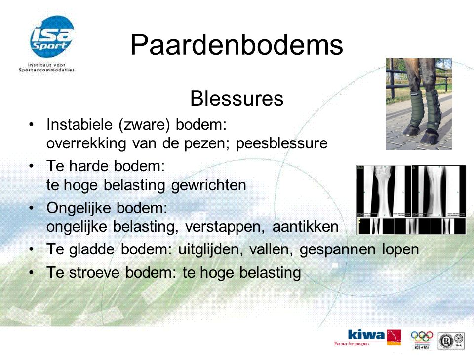 Paardenbodems Blessures