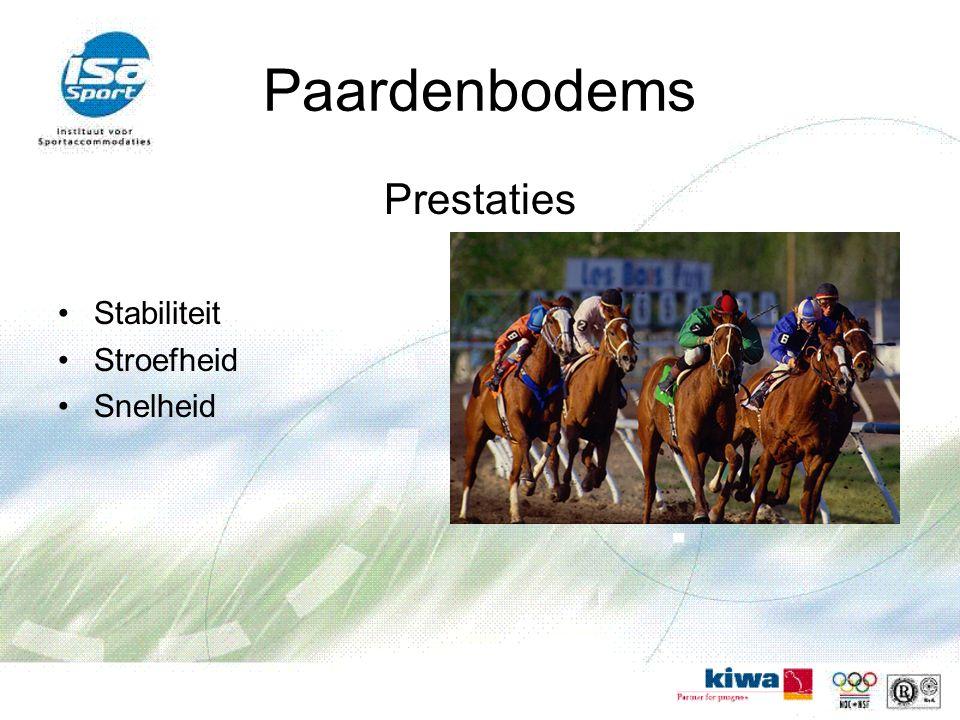 Paardenbodems Prestaties Stabiliteit Stroefheid Snelheid
