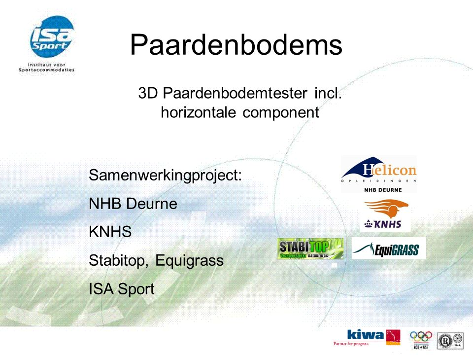 3D Paardenbodemtester incl. horizontale component